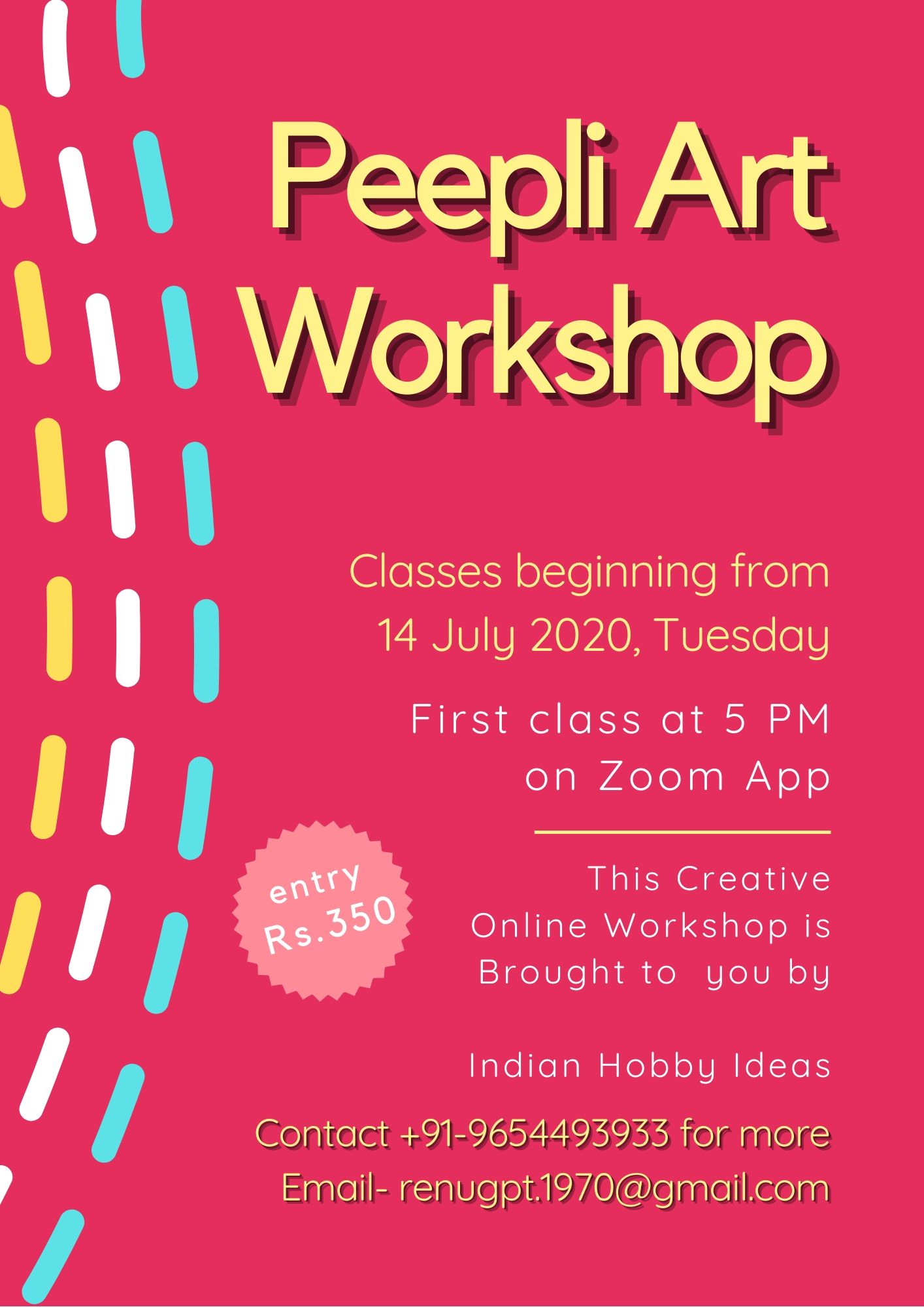 Peepli-Art-Craft-Workshop-Poster