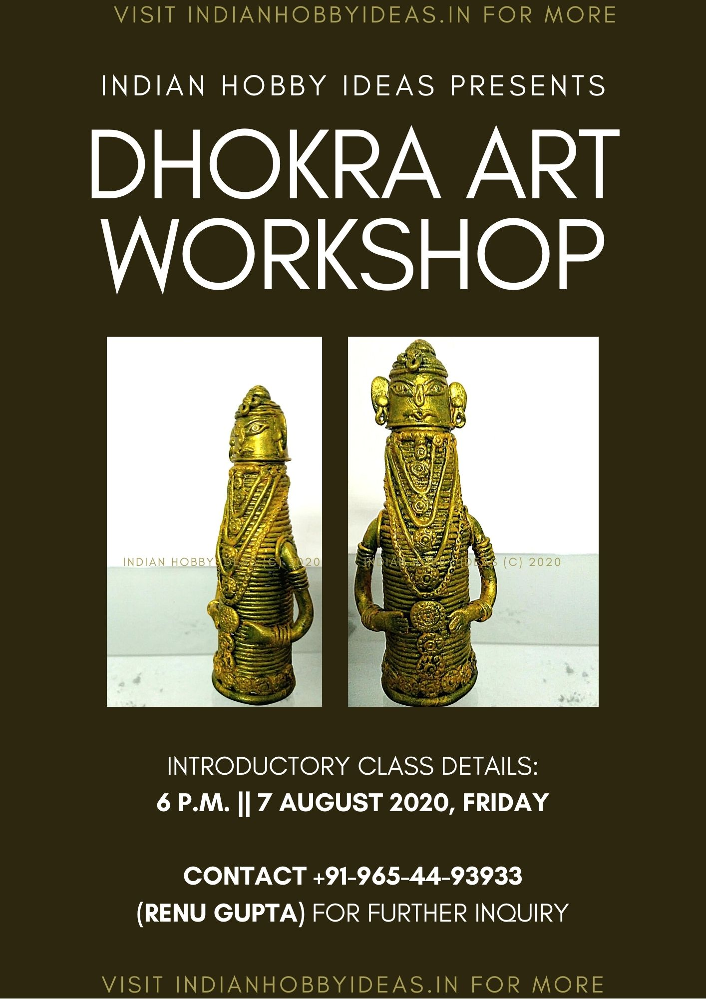 dhokra art workshop poster indian hobby ideas trust